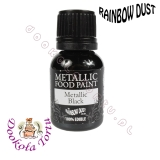 RAINBOW DUST farbka - czarna BLACK